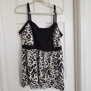 Torrid Sweat Heart Cheetah Print Tank Top Size 4